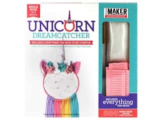 yarn & needlework: Leisure Arts Mini Maker Unicorn Dreamcatcher Kit