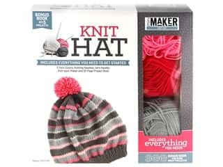 yarn & needlework: Leisure Arts Mini Maker Knit Hat Kit