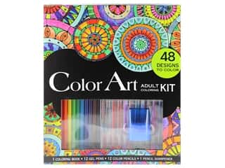 projects & kits: Leisure Arts Color Art Adult Coloring Kit