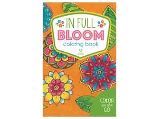 Leisure Arts Color On The Go In Full Bloom Coloring Book