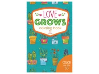 books & patterns: Leisure Arts Color On The Go Love Grows Coloring Book