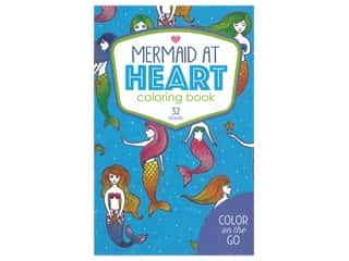 Leisure Arts Color On The Go Mermaid At Heart Coloring Book
