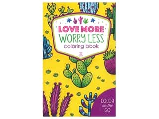 books & patterns: Leisure Arts Color On The Go Love More Worry Less Coloring Book