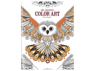 Leisure Arts Owl Wonders Color Art For Everyone Coloring Book