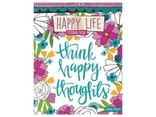 books & patterns: Leisure Arts Happy Life Coloring Book