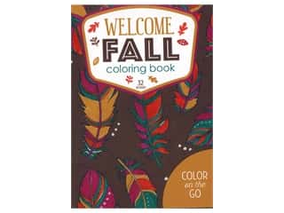Leisure Arts Color On The Go Welcome Fall Coloring Book