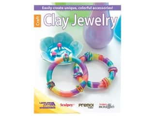 beading & jewelry making supplies: Leisure Arts Clay Jewelry Book
