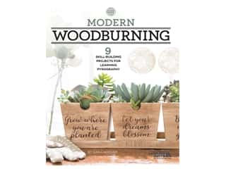 Leisure Arts Modern Woodburning Book