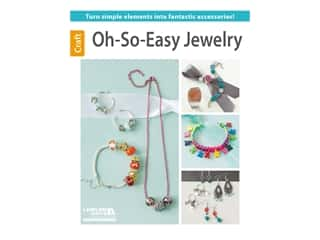 beading & jewelry making supplies: Leisure Arts Oh-So-Easy Jewelry Book