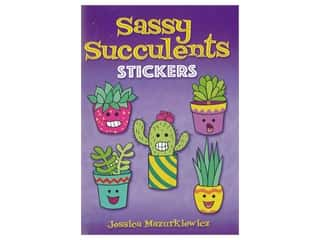 Dover Little Activity Books Sassy Succulents Sticker Book