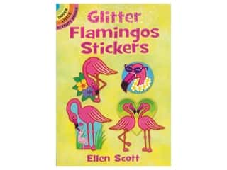 books & patterns: Dover Publications Little Glitter Flamingos Sticker Book