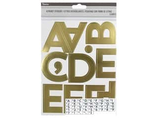 Darice Sticker Large Alpha/Number 2.5 in. Gold 148 pc