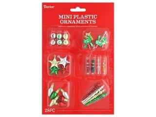 Darice Ornament Mini Christmas Plastic 28 pc