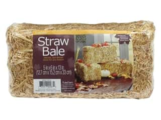 raffia: FloraCraft Straw Bale 13 in. x 6 in. x 5 in. Package