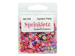 craft & hobbies: Buttons Galore Sprinkletz Embellishments Garden Party