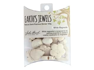 craft & hobbies: John Bead Earth's Jewels Bead Assortments 100 g.  White Magnesite Natural