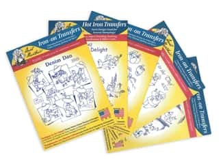 Aunt Martha's Hot Iron Transfers Blue Assortment - Tea Towels and Kitchen Decor