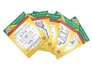 yarn & needlework: Aunt Martha's Hot Iron Transfers Green Assortment - Linens and Monograms