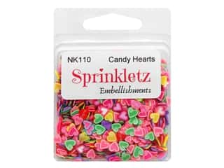 Buttons Galore Sprinkletz - Candy Hearts