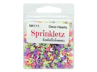 Buttons Galore Sprinkletz Embellishments Deco Hearts