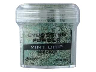 embossing ink: Ranger Embossing Powder .70 oz Speckle Mint Chip