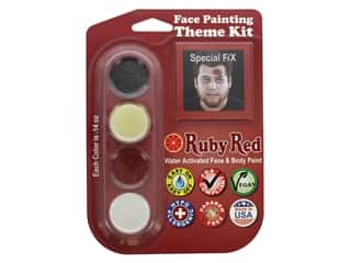 Ruby Red Face & Body Paint Theme Kit Special F/X