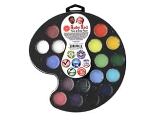 Ruby Red Face & Body Paint Kit Artist Palette 16 Color