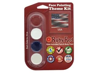 Ruby Red Face & Body Paint Theme Kit USA