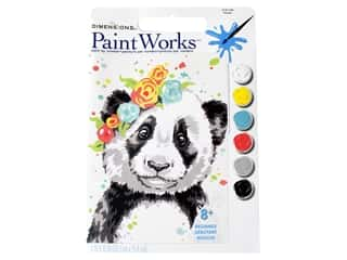 craft & hobbies: Paintworks Paint By Number Kit 8 x 10 in. Panda