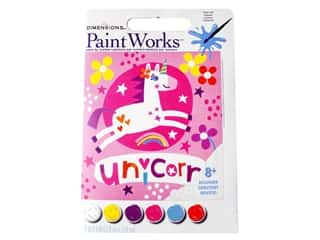 craft & hobbies: Paintworks Paint By Number Kit 9 x 9 in. Unicorn
