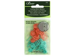 Stitch Markers: Clover Locking Stitch Markers 20 pc.