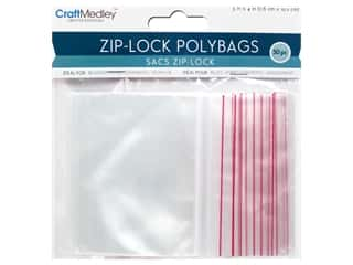 craft & hobbies: Craft Medley Zip-Lock Polybags 3 x 4 in. 50 pc.