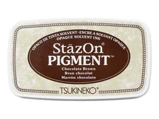 Tsukineko StazOn Pigment Ink Pad Chocolate Brown