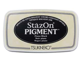 Tsukineko StazOn Pigment Ink Pad Piano Black