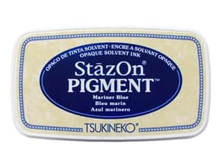 Tsukineko StazOn Pigment Ink Pad Mariner Blue