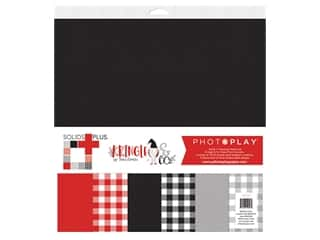 Photo Play 12 x 12 in. Paper Pack Kringle & Co Solid Plus