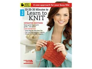 books & patterns: Leisure Arts 10-20-30 Minutes To Learn To Knit Book