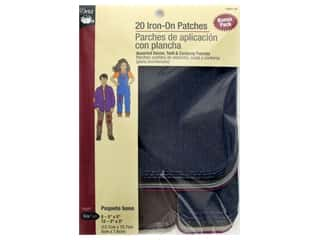 Dritz Denim Iron On Patches Repair Kit 20 pc. Assorted
