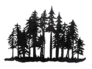 craft & hobbies: Sierra Pacific Evergreens Wall Art 17 1/4 x 11 1/2 in. Black