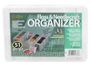yarn & needlework: Darice Organizer Floss & Needlecraft 7 Compartment with 50 Bobbins