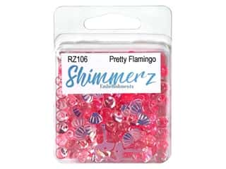 Buttons Galore Embellishments Shimmerz Pretty Flamingo