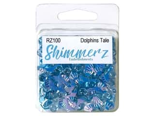 craft & hobbies: Buttons Galore Embellishments Shimmerz Dolphin's Tale
