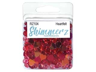 craft & hobbies: Buttons Galore Embellishments Shimmerz Heartfelt