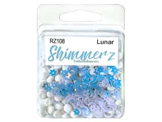 craft & hobbies: Buttons Galore Embellishments Shimmerz Lunar