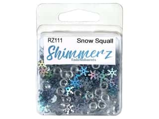craft & hobbies: Buttons Galore Embellishments Shimmerz Snow Squall
