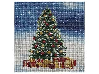 beading & jewelry making supplies: Diamond Art Kit 12 in. x 12 in. Full Drill Holiday Christmas Tree