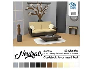 Paper Accents 12 x 12 in. Cardstock Pad 48 pc. Neutral