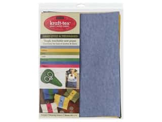 novelties: C&T Publishing Kraft-Tex Paper Fabric Hand-Dyed & Prewashed Sampler Pack 7 pc.