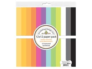 Doodlebug 12 x 12 in. Paper Pack Candy Carnival Solid Assortment
