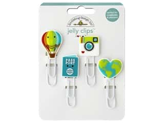 Doodlebug Collection I Heart Travel Jelly Clips